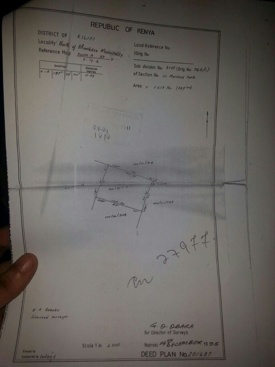 4 acre plot of land for sale in Mtwapa  behind Coca-Cola factory