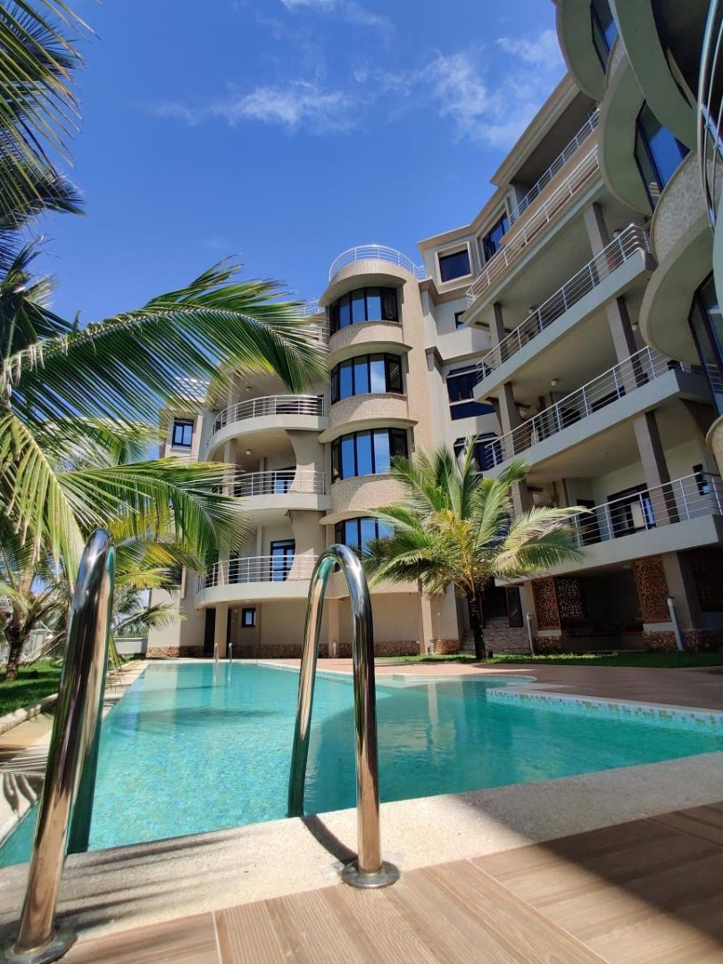 3br furnished oceanview apartment for rent in at English Point Residence, Nyali- Kutub