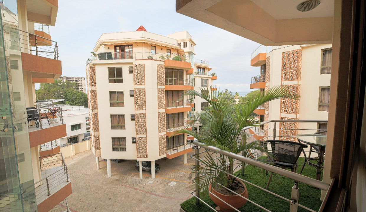 2br FURNISHED oceanview penthouse for rent in Assia Apartments, Nyali-Mombasa