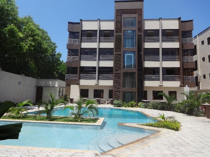 Executive furnished 3 br apartment with pool to let in Nyali- Jupiter Heights