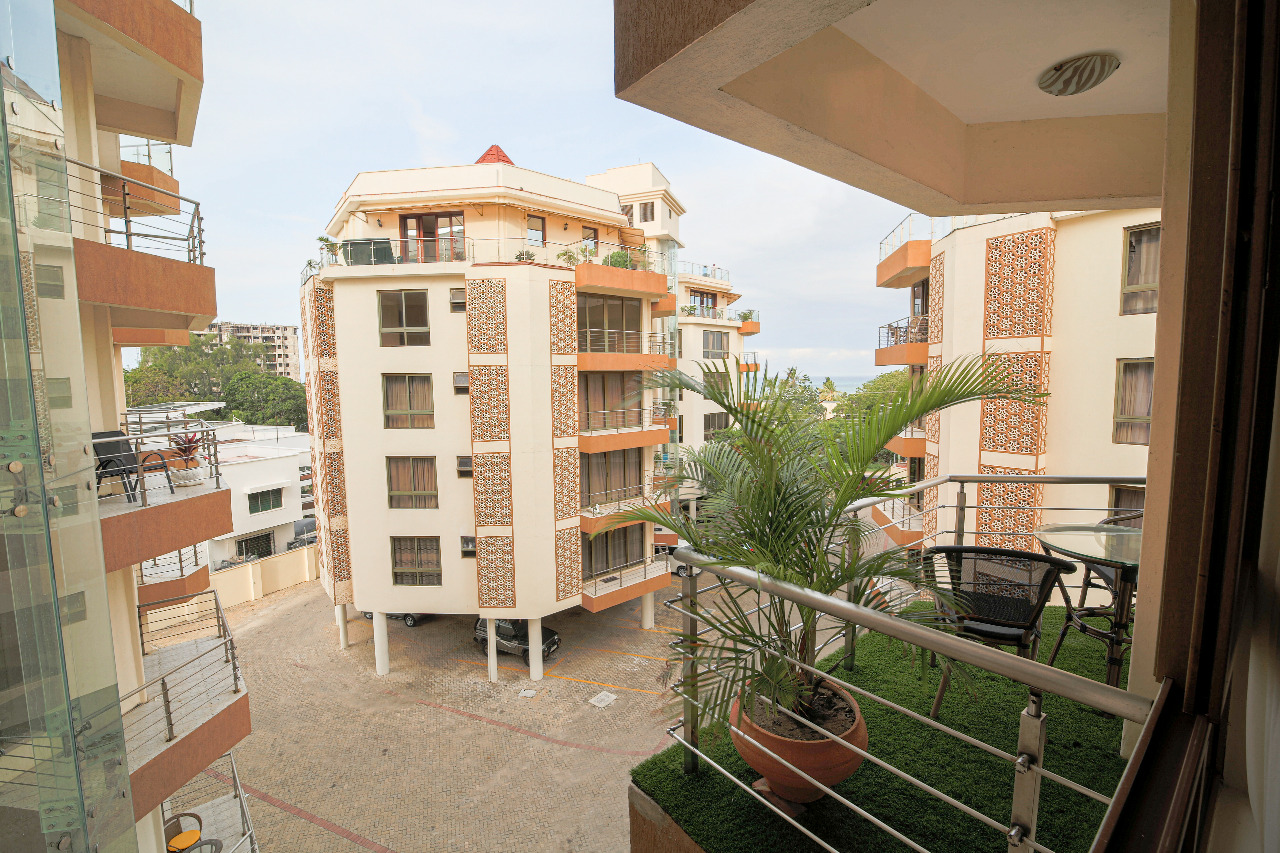 3br Assia apartments with ocean view for rent in Nyali.