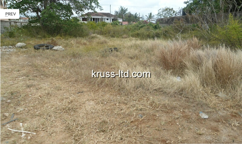 Half acre plot of Land For Sale in Nyali