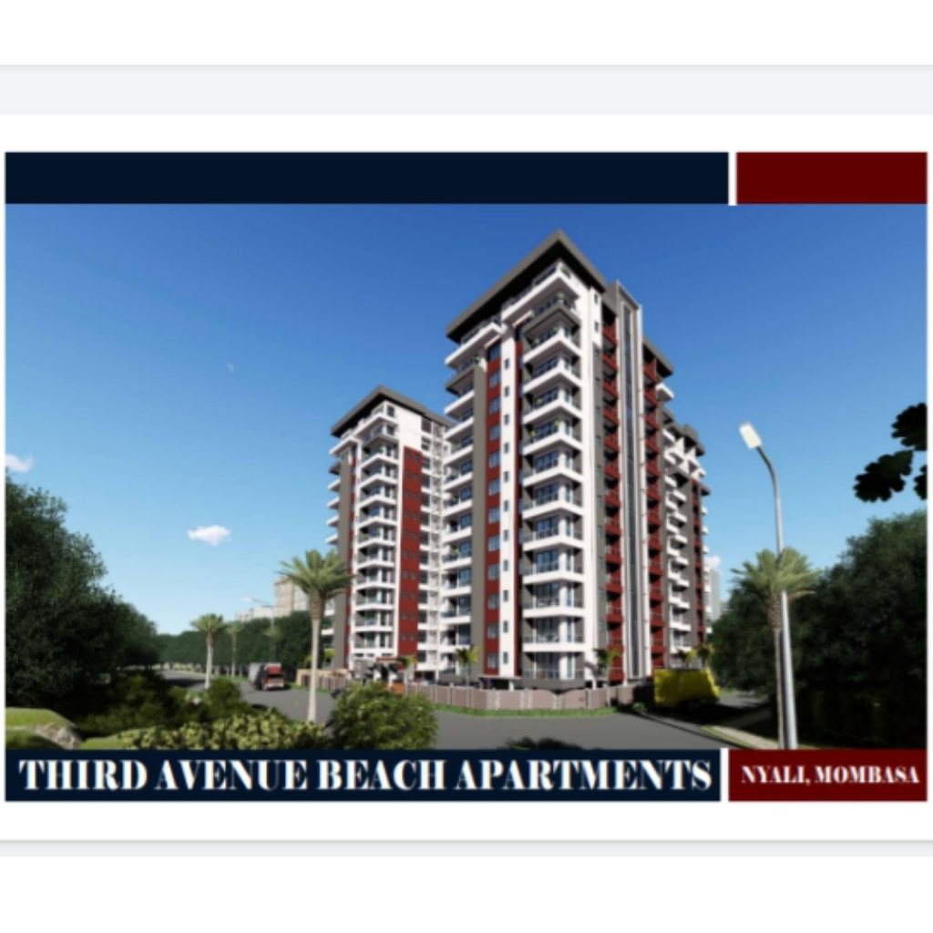 1br off plan Apartment for Sale in Nyali. (Third Avenue Beach Apartment)