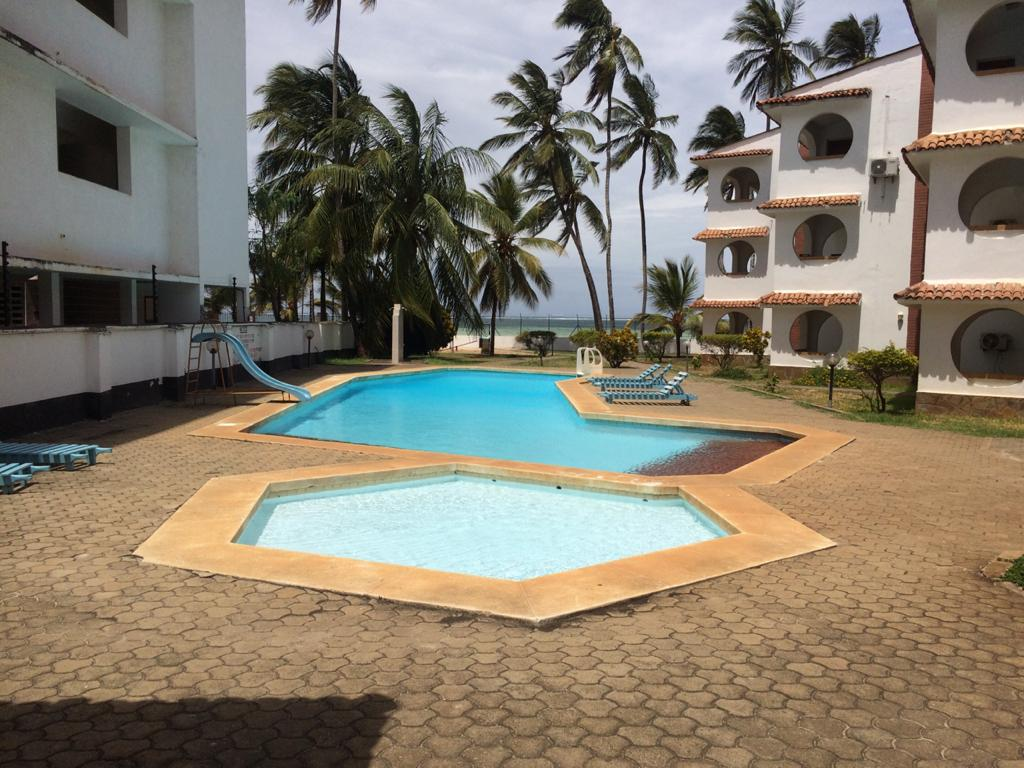 2br beachfront furnished apartment for rent in Bamburi beach-Bamburi Beach Villas Apartments